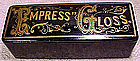 EMPRESS GLOSS PAPIER MACHE ADVERTISING BOX c1880-1900