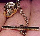 Elegant 10K DIAMOND TIE TACK or TIE PIN c1960s