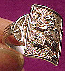 Vintage STERLING CELTIC LION RING