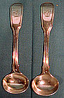 Pr. GEORGIAN STERLING SALT SPOONS - London 1817