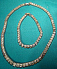 AVON BELLEVILLE (MAZER) STERL RS NECKLACE & BRACELET