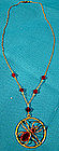Vintage GF SPIDER RED CRYSTAL NECKLACE c1930