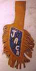 NORTH AMERICAN TRIBAL BEADWORK MOOSE HIDE KNIFE SHEATH