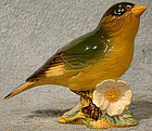 BESWICK GREENFINCH with FLOWER 2105B BIRD FIGURINE