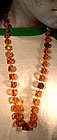 EDWARDIAN FACETTED AMBER BEAD NECKLACE c1910