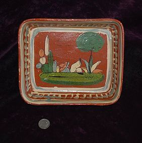 Beautiful ~ MEXICAN ~ Colorful DISH ~ 1930's - 1940's