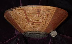 Pre-Columbian ~ CHAVIN ~ Polychrome BOWL
