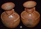 Pre-Columbian ~ MOCHE ~ Pair of Twin VESSELS