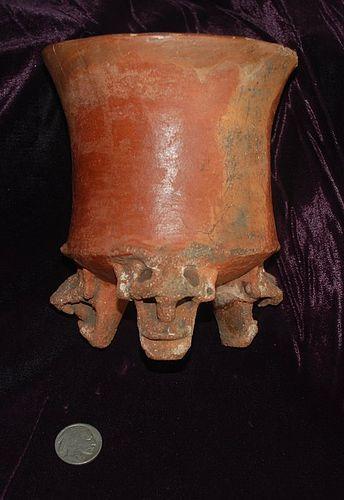 Pre-Columbian ~ NICOYA ~ Tripod Vessel w/ Zoomorphic Legs