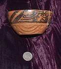 Pre-Columbian ~ CARCHI ~ Terracotta Polychrome  BOWL ( Ecuador )