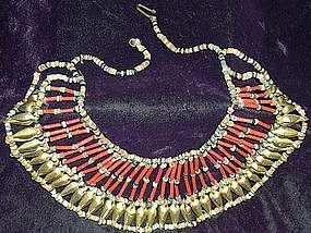 Beautiful ~ EGYPTIAN ~ Metal & Stone Beads Necklace