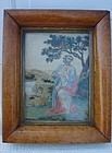 18TH CENTURY NEEDLEPOINT, PERIOD MAPLE FRAME