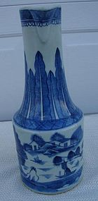 C. 1820 CHINESE EXPORT BLUE CANTON RARE EWER 12""