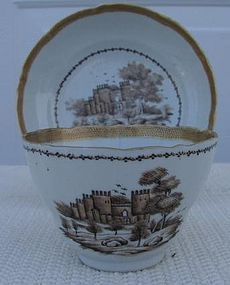 C. 1780 CHINESE EXPORT AMERICAN MARKET CUP/SAUCER
