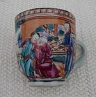 C. 1770 CHINESE EXPORT MANDARIN PALETTE DEMITASSE CUP