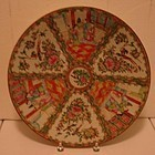C. 1880 CHINESE EXPORT ROSE MEDALLION CHARGER 16""