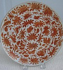 """C. 1840 CHINESE SACRED BIRD AND BUTTERFLY PLATE 7 3/4"""""""