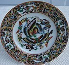 CIRCA 1850 CHINESE 1000 BIRD AND BUTTERFLY PLATE