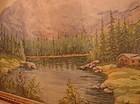 CIRCA 1950 GOUACHE WATERCOLOR MOUNTAIN LANDSCAPE