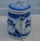 CIRCA 1850 CHINESE EXPORT BLUE CANTON TEAPOT