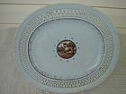 C. 1780 CHINESE EXPORT LARGE RETICULATED PLATE
