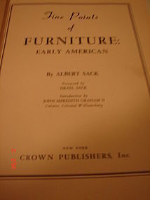 FIVE POINTS OF FURNITURE,ALBERT SACK