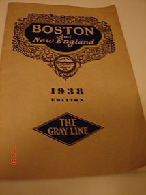 BOSTON AND NEW ENGLAND,1938 EDITION