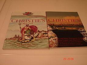 CHRISTIE'S N.Y. JAN. 2001 AND JAN. 2004 CHINESE EXPORT
