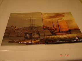 TWO CHRISTIE'S CATALOGS-MARITIME ART