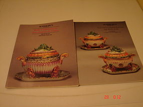 TWO SOTHEBY'S CATALOGS CHINESE EXPORT PORCELAIN