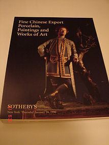 SOTHEBY'S CATALOGS CHINESE EXPORT PORCELAIN