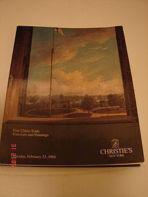 CHRISTIE'S NEW YORK,CHINA-TRADE PORCELAIN/PAINTINGS