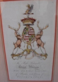 ANTIQUE ARMORIAL CREST EDWARD MONTAGUE OF BEAULIEU