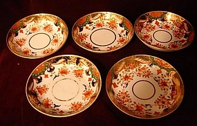 C. 1815 SPODE #967 AND #1645 CUPS AND SAUCERS