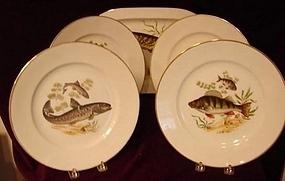 C. 1880 GERMAN FISH SET BY JKW