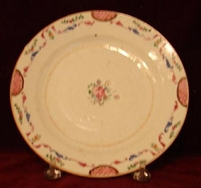 "C.1770 CHINESE EXPORT FAMILLE ROSE 8 3/4"" PLATE"
