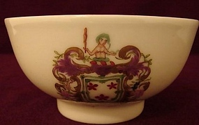 "C. 1770 CHINESE EXPORT ARMORIAL BOWL 4 1/2"" WIDE"