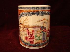 C. 1780 CHINESE EXPORT MANDARIN PALETTE MUG