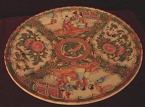 C. 1850 CHINESE EXPORT ROSE MEDALLION TAZZA