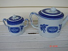 COPELAND-SPODE COVERED SUGAR BOWL AND TEAPOT
