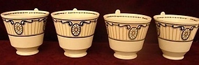 C. 1840 SET OF FOUR ENGLISH WEDGWOOD TEA CUPS