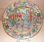 "C. 1820 CHINESE EXPORT ROSE MANDARIN PLATE 7 3/4"""