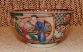 C. 1770 CHINESE EXPORT MANDARIN TEA BOWL