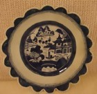 C. 1840 CHINESE EXPORT BLUE CANTON SAW TOOTH BOWL 9 7/8