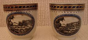 C. 1780 PAIR OF CHINESE EXPORT AMERICAN MARKET CUPS
