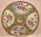 C. 1840 CHINESE EXPORT ROSE MEDALLION DINNER PLATE