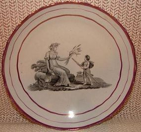C. 1820 ENGLISH PEARLWARE STAFFORDSHIRE GRISAILLE BOWL