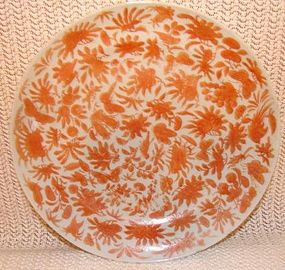C.1850 CHINESE EXPORT SACRED BIRD AND BUTTERFLY PLATE