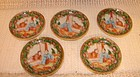 C. 1890 CHINESE EXPORT ROSE MEDALLION BUTTER PATS