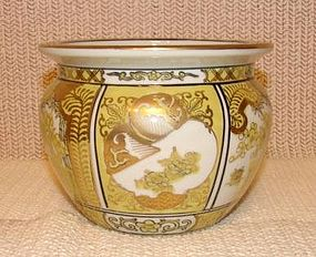 MID-20TH CENTURY GOLD IMARI MEDIUM JARDINEER